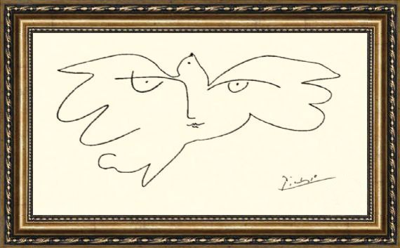 In this picture of Pablo Picasso represented the person famous for all. Guess about whom there is a speech =) 99% of people are not able to do it. And you will guess? Take your time to watch the answer, at first think! Correct answer