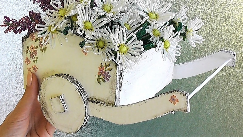 Декоративная ТЕЛЕЖКА своими руками / Подарок своими руками мастер-класс