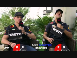 Red Bull's Daniel Ricciardo and Max Verstappen | Grill the Grid: Truth or Lie