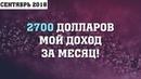 Мой доход на сером ютуб-канале составил 2700 долларов за Сентябрь 2018
