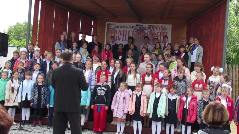 Песня Весёлый ветер в исполнении сводного хора березниковской музыкальной школы Камертон и усольской школы искусств