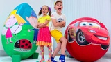 McQueen VS Ben and Holly's Little Kingdom Яйцо с игрушками Giant Surprise egg