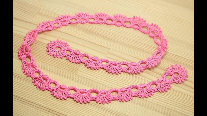 Кайма для ирландского кружева - урок вязания крючком - crochet irish lace