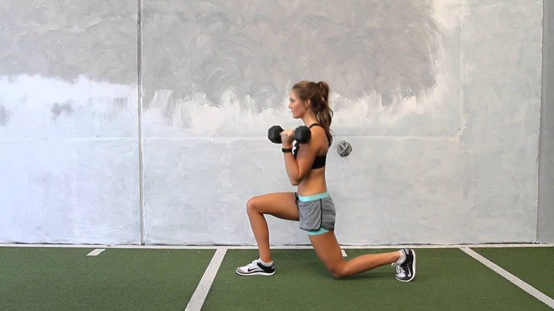 Dumbbell Alternating Reverse Lunge with Bicep Curl
