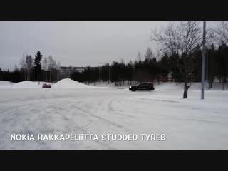 Jeep SRT8 snow donuts