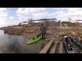 Морская рыбалка в Крыму с лодки каяка на спиннинг, ловим саргана, селёдку, ставриду, луфаря и др. морскую рыбу Чёрного моря. Каякинг на Черном море.