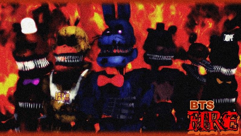 【MMD FNAF】BTS - FIRE / Rising burning dance