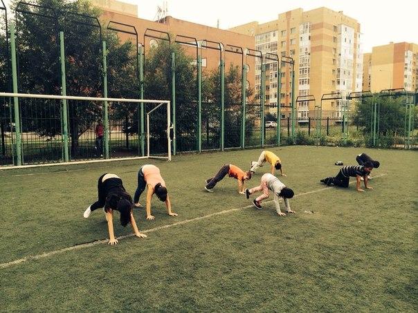занятия спортом в летнем лагере