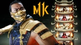 4K MORTAL KOMBAT 11 - Scorpion vs ScarlettBarakaScorpion Klassic Tower Gameplay @ 60