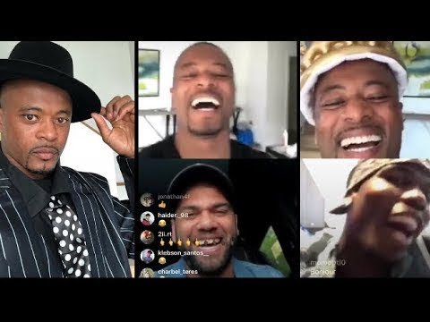 Dani Alves and Paul pogba instagram live with Patrice Evra for his 37th birthday