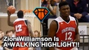 Zion Williamson Gets His HEAD AT THE RIM!! | 16 Year Old Phenom Is a WALKING HIGHLIGHT