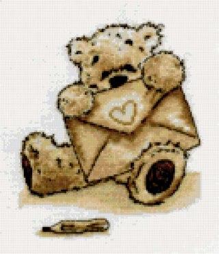 1. Белый мишка Likcle (серия TomPoli) - часть 1. вышивка крестом.  2934*4176 px. там еще. http...