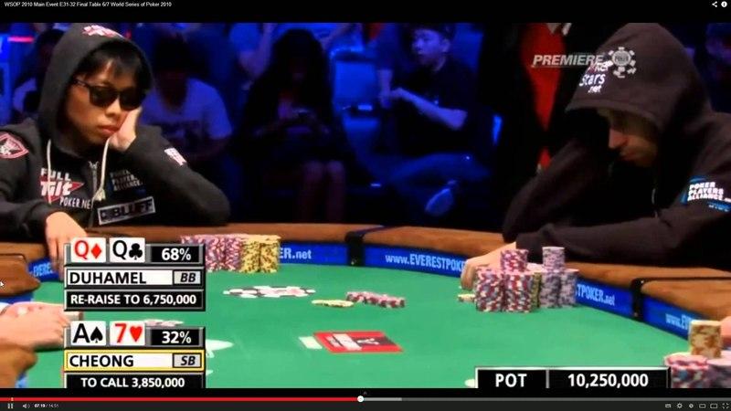 CSI Poker Duhamel vs Cheong