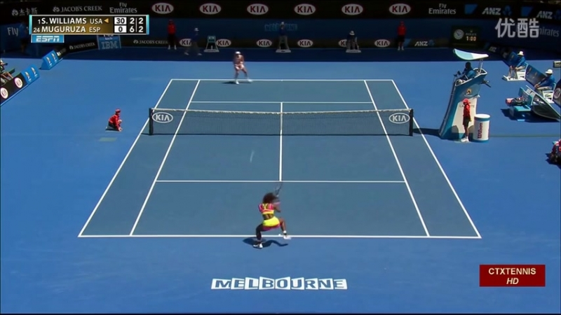 Serena Williams VS Garbine Muguruza Highlight 2015 AO R4