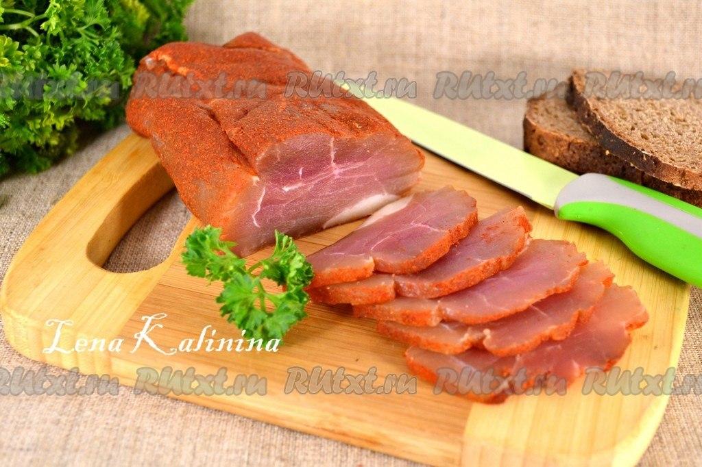 рецепт вяленой свинины в домашних условиях