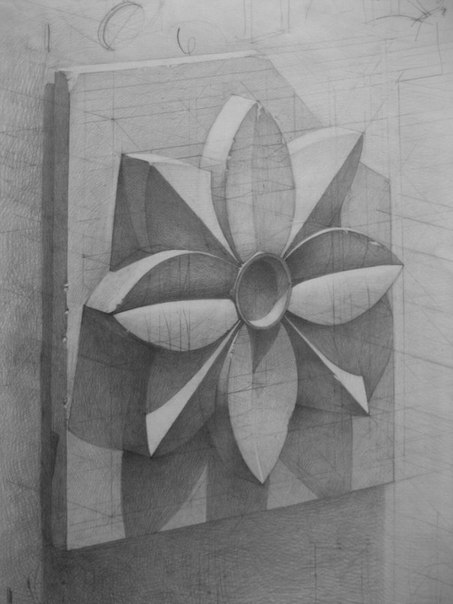 Розетка рисунок карандаш