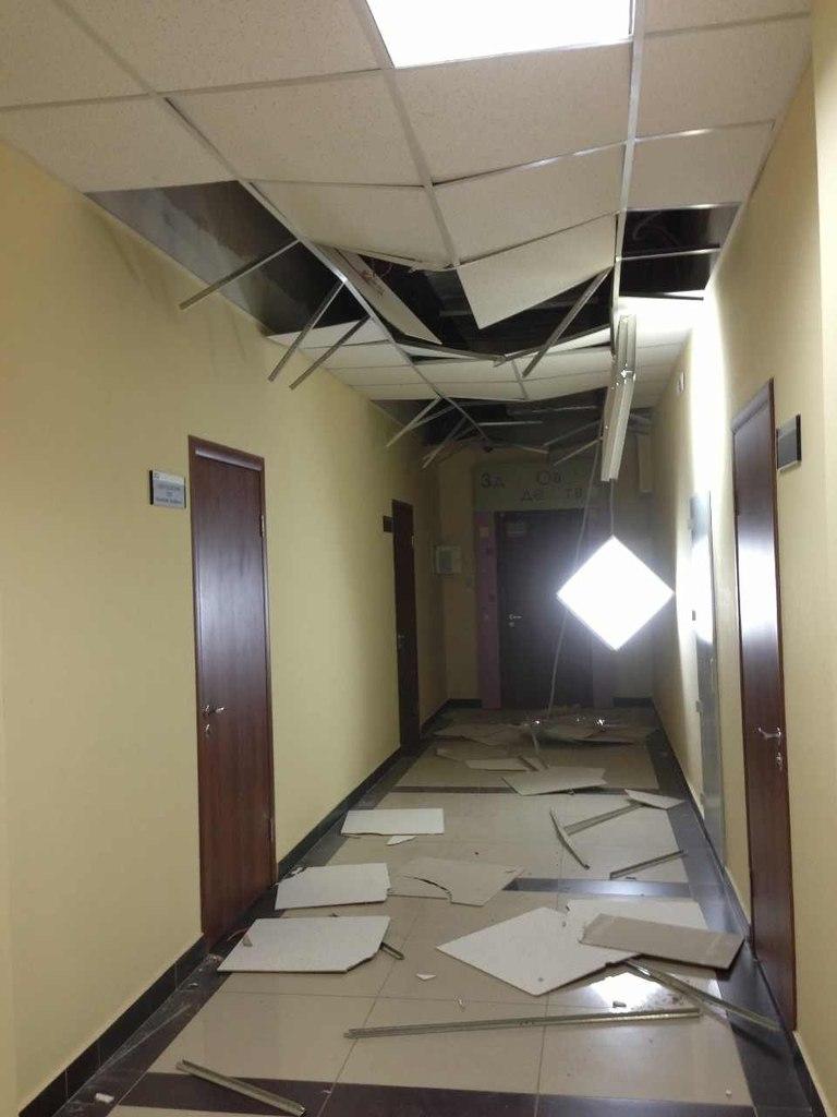 фотографии  с места Падение метеорита  в Челябинске