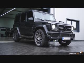 BRABUS by fostla.de _ G63 AMG WIDESTAR _ SATIN-BLACK-MATT _ 23 Wheels _ Exhaust