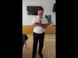 Иннокентий Волкоморов читает отрывок из своей книги