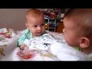 КРУТО Двойняшки один икает, а другому смешно)