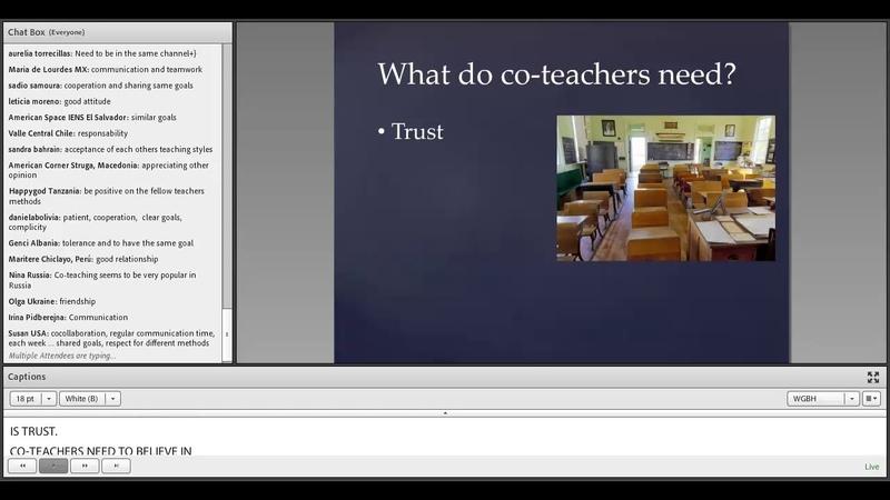 AE Webinar 1.3 - Co-Teaching: Strategies for Sharing Improving the Teaching Experience