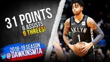 D'Angelo Russell Full Highlights 2018.11.12 Nets vs TWolves - 31 Pts, 9 Threes! FreeDawkins