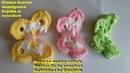 Como tejer mariposa a crochet facil en 3D - How to make stitch butterfly in crochet