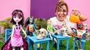 Monster High oyuncaklar Halloween'e hazırlanıyorlar Müfettiş Sema