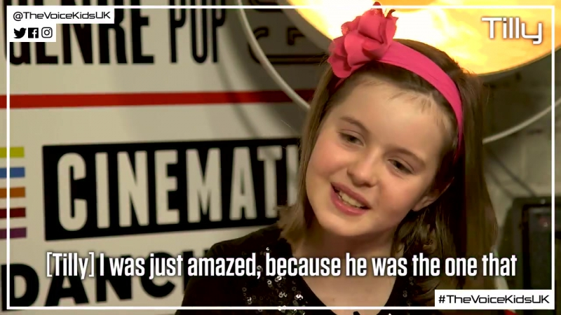Cel chats to Tilly about her inspirations, including Meghan Trainor and AC/DC (The Voice Kids UK 2017)