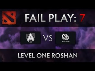 Dota 2 TI4 Fail Play - Alliance vs VG - Level One Roshan
