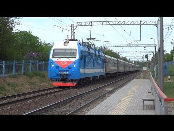 ЭП1М-516 с поездом №381 Грозный — Москва.