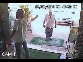 Badass Old Man Doesn't Have Time For Armed Robber's Bullsh*t