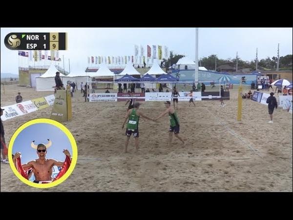 Mol.A/Sorum (NOR) vs. Herrera/Gavira (ESP) 2019 FIVB Xiamen Round 3