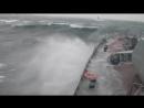 МРК «Зеленый Дол» и «Серпухов» преодолевают в шторм Атлантический океан