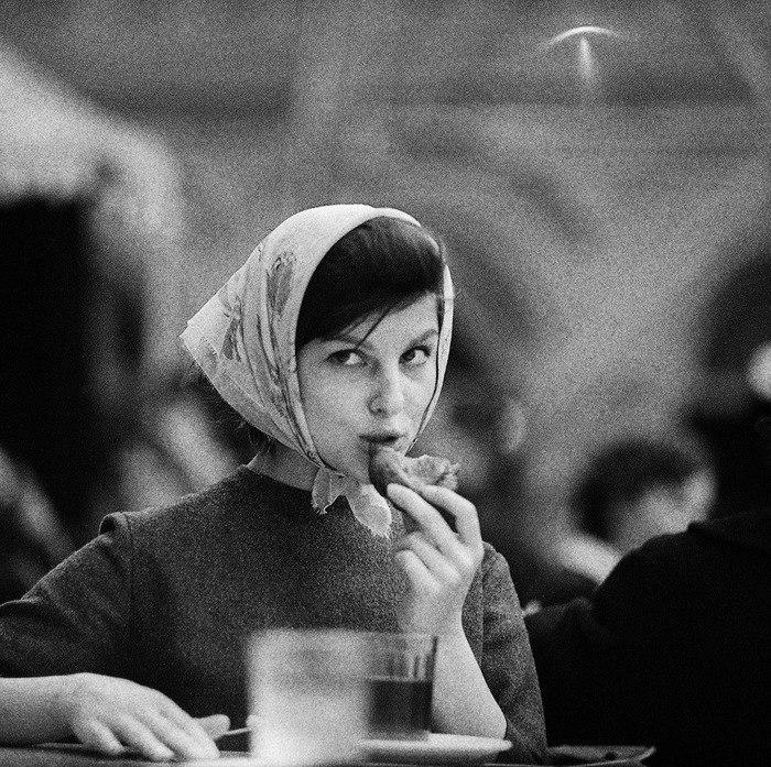 Рабочий полдень СССР, 1960 год. Фото Тадеуша Рольке.