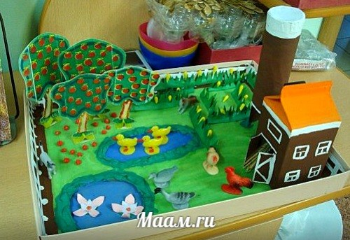 Макет домов в детском саду