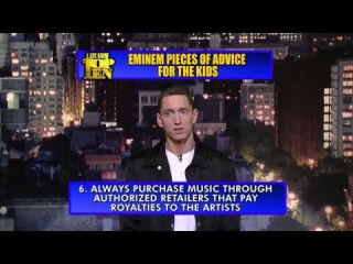 Eminem's Top 10 Pieces of Advice For The Kids on The Late Show with David Letterman (на русском, HD)
