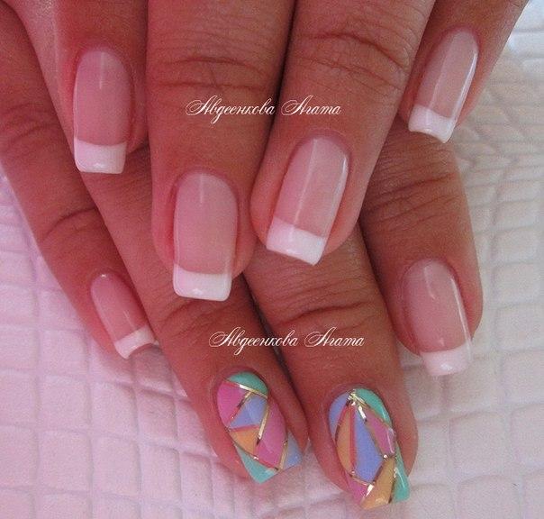 Шилак ногтей с переходом цвета