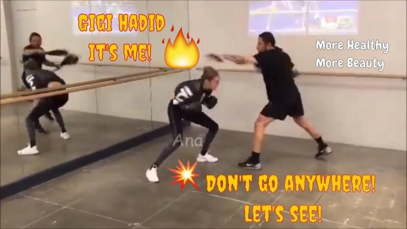 Gigi Hadid | Angle workout hard |More Healthy More Beauty