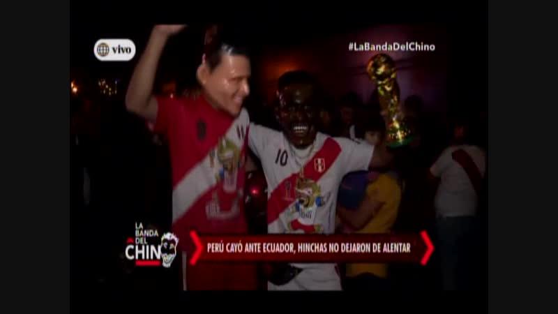 Nota - Peru cayo ante Ecuador hinchas no dejaron de alentar