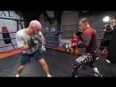 Артем Тарасов против Шталя — спарринг по боксу и борьба в партере! Тренировка по