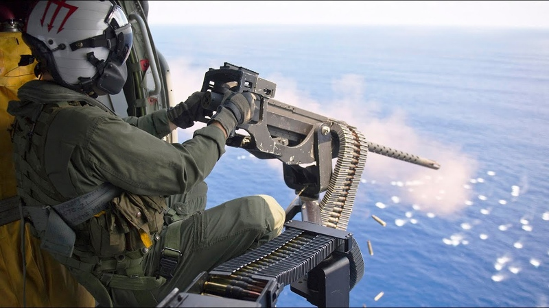 Door Gunners Snipers Engage Targets At Sea [Training video]
