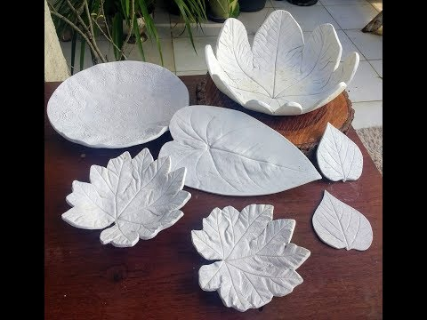 Escultura folhas é gesso muito fácil de fazer
