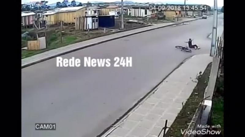 Ciclista atropelado dentro do CT do Flamengo