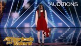 The Sacred Riana: Frightening, Scary, Terrifying Magician Scares Mel B - America's Got Talent 2018