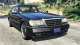 Legendary Mercedes-Benz W140 AMG ! Cool Mod for Grand Theft Auto V Car Game on PC