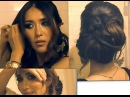 ♥ HOW TO CHIGNON Low Sock BUN UPDO on Long Hair - Wedding HAIRSTYLES, Side Coiffure Hair Tutorial