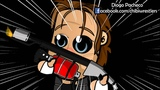 Chibi Wrestlers - HappyScary Dean Ambrose and Seth Rollins #20 The Torture (WWE Parody)