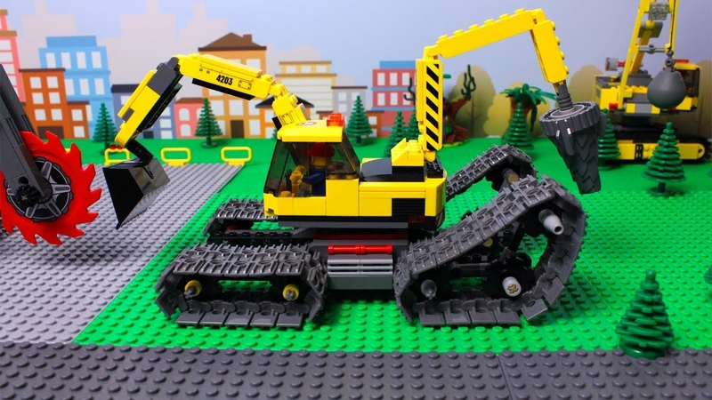 LEGO Excavator, Tractor, Dump Truck Loader Construction Toy Vehicles for Kids