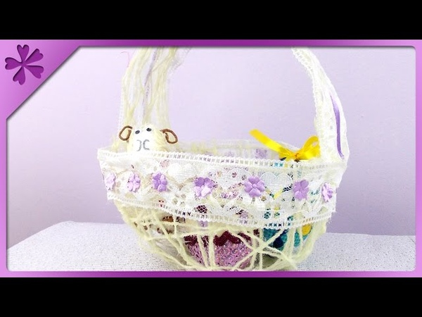 DIY Twine Easter basket (ENG Subtitles) - Speed up 82